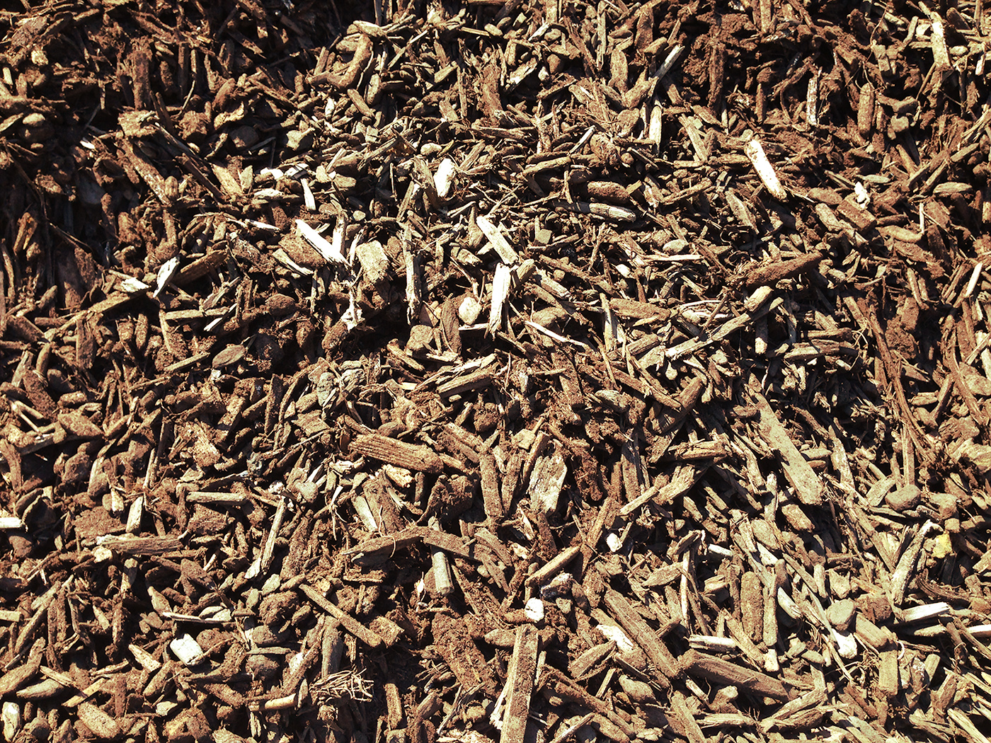 large fish chips mulch and compost