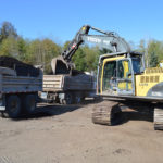 Dump truck and Pup delivery Campbell River